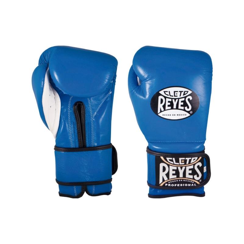 Guantes Cleto Reyes Con Velcro 12 Oz. Azul