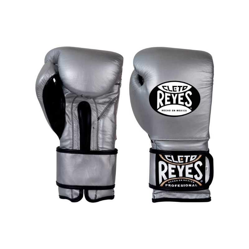 Guantes Cleto Reyes Con Velcro 12 Oz. Platino