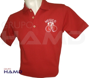 PLAYERA TIPO POLO CON BORDADO